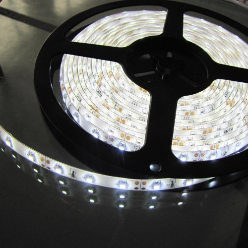 Led Strip Light, Waterproof Led Flexible Light Strip 12V With 300 Smd Led, 3258 Pure White. 16.4 Foot / 5 Meter