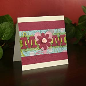 "Handmade ""MoM"" Mother's Day Card"