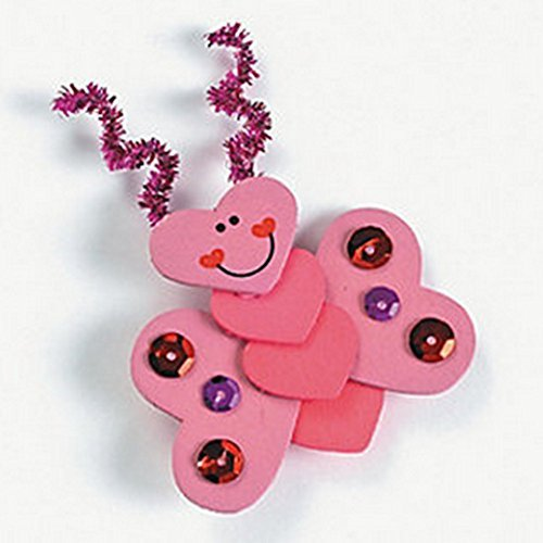 "Wooden ""Luv Bug"" Pin Craft Kit (Makes 12) - 1"