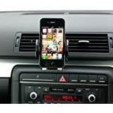 Ultimateaddons® Pro Swivel Air Vent V2 Car Kit Mount with Black Holder for most Mobile Phones