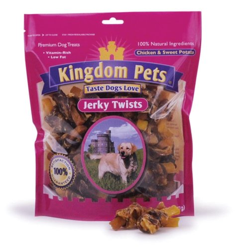 Kingdom Pets Premium Dog Treats, Chicken & Sweet Potato Jerky Twists, 48-Ounce Bag