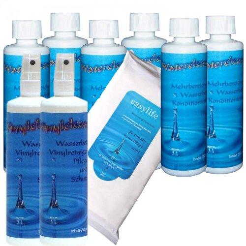 el-mantenimiento-para-camas-de-agua-agua-6-x-250-ml-acondicionador-y-limpiador-de-vinilo-clean-2-x-2