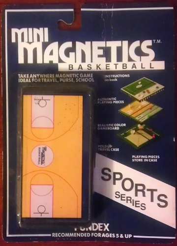 Fundex Mini Magnetics BASKETBALL Sports Series [Take anywhere magnetic game. Ideal for travel, purse, school]