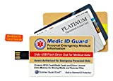 SCANNER GUARD CARDS: Protect Your Credit Cards from Identity Theft with sliding USB Flash Drive for Medical Record Keeper- THE FIRST FINANCIAL AND MEDICAL PROTECTION IN ONE PRODUCT!! - Designed for Easy Carrying in Wallet & Powered By Scanner Guard Technology