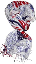 USA US American Flag Peace Scarf