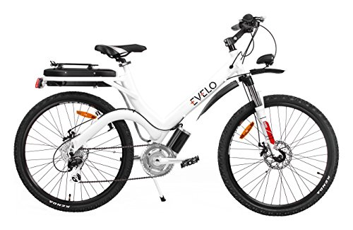 Evelo Aurora Electric Bike With Nuvinci N360 Drivetrain & 250W Mid-Drive Motor, White