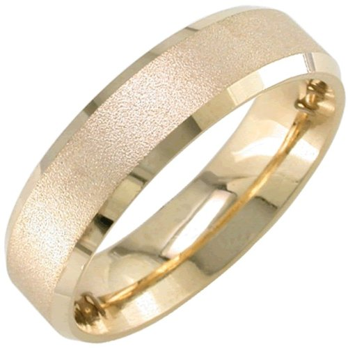 14K Gold Traditional Top Flat Women'S Wedding Band (6Mm) Size-5