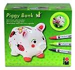 Marabu 012300087 Piggy Bank Porcelain...