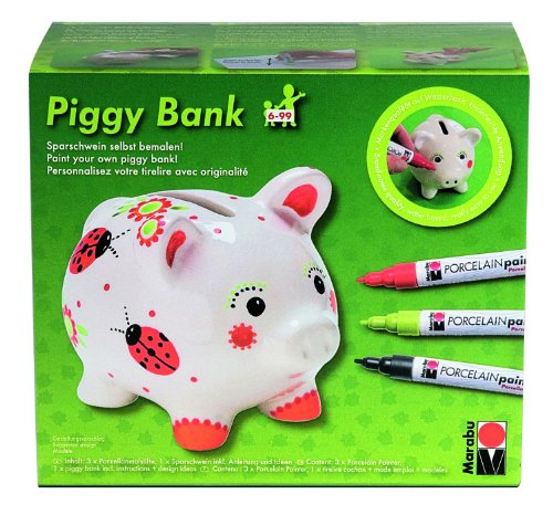 marabu 012300087 piggy bank porcelain painter malsetsatz. Black Bedroom Furniture Sets. Home Design Ideas