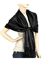 "Falari Women's Solid Color Pashmina Shawl Wrap Scarf 80"" X 27"""