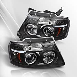 Ford F150 04 05 06 07 08 G2 LED Projector Headlights /w Halo/Angle Eyes ~ pair set (Black)