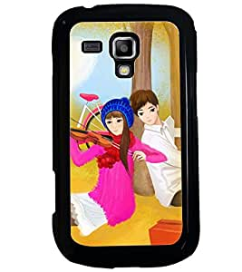 Printvisa Love Couples With A Violen Back Case Cover for Samsung Galaxy S Duos 2 S7582
