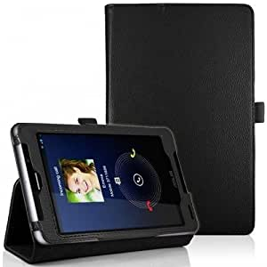 HOKO Black Leather Flip Case Book Cover Stand with magnetic closure for Fonepad 7 ME372CG