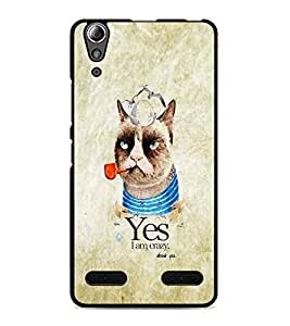 PrintDhaba Funny image D-4628 Back Case Cover for LENOVO A6000 PLUS (Multi-Coloured)