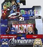 Marvel MiniMates Series 45 Avengers Movie Mini Figure 2Pack Captain America Thor