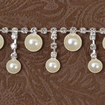 Pearl Drop Rhinestone Chain 1