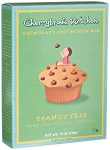 Cherrybrook Kitchen Chocolate Chip Muffin Mix, Peanut Free!, 18-Ounce Boxes (Pack of 6)