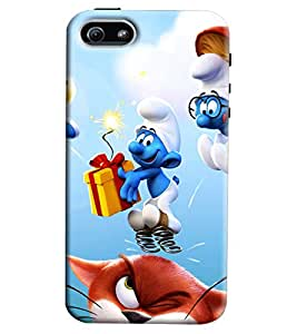 Clarks Smurf Inspired Hard Plastic Printed Back Cover/Case For Apple iPhone 5/5S