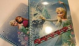 Disney Frozen 2-pack 1 Subject Notebook with Three Disney Frozen Pencils - Various Designs