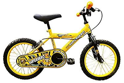 Reflex Boy's Super Hero Bike - Yellow/Black, Size 16