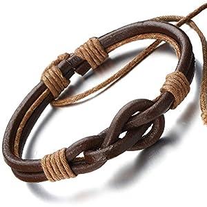 Amazon.com: Friendship Nautical Knot Multi-row Brown