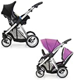 BabyStyle Oyster MAX Inline Travel System (inc 2nd Seat & Car Seat) Grape