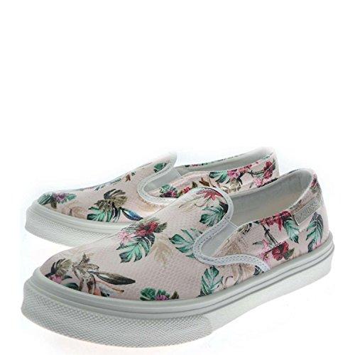 Scarpe Sneakers Donna Guess Mod. GRETA SLIP-ON SNEAKER FL2GTAFAP12 Col. Rosa (37).