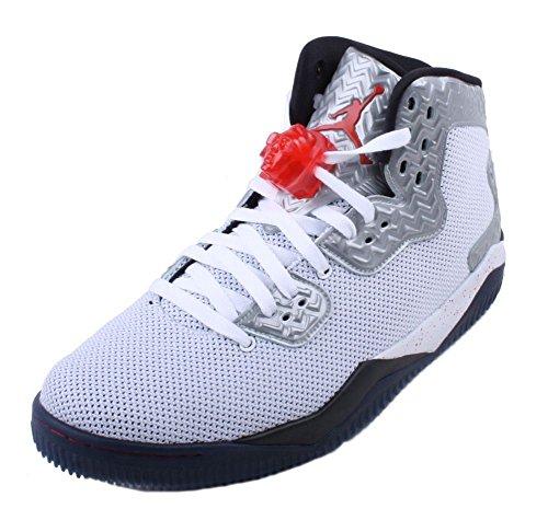 Nike Jordan Men's Air Jordan Spike Forty PE White/Fire Red/Black Basketball Shoe 11 Men US (Nike Air Jordan Retro 11 compare prices)