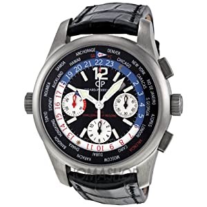 Girard Perregaux WWTC Automatic Black Titanium Leather Mens Watch 4980021657FK6A by Girard Perregaux