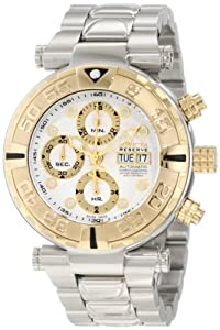 Invicta Men's 10482 Subaqua Noma I Reserve Automatic Chronograph White Textured Dial Stainless Steel Watch