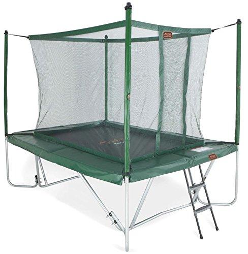 Trampolin grün faltbar mit Fangnetz und Leiter in 3 x 2,25 m günstig bestellen