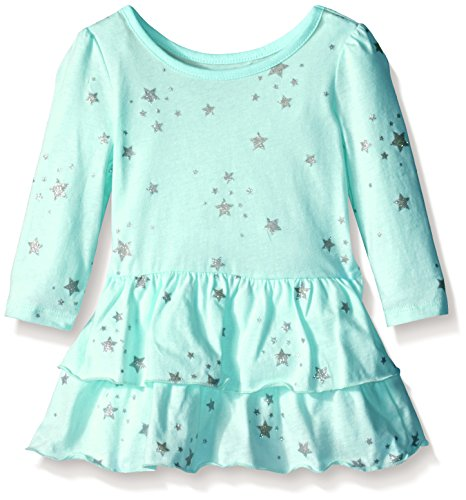 The Children's Place Baby-Girls Knit Star Dress, Crystal Mint, 2T