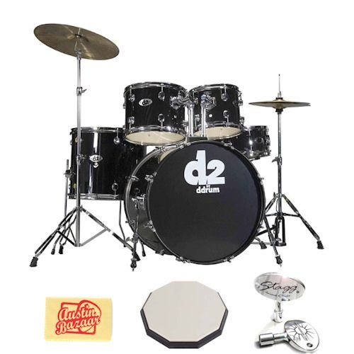 cheap ddrum ddrum d2 five piece drum kit bundle with stagg 12 inch drum pad stagg drum key. Black Bedroom Furniture Sets. Home Design Ideas