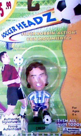 Hernan Crespo Soccer Head with Super Bobbin' Action - Soccer Headz