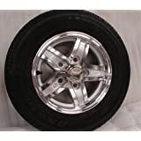 "12"" Aluminum Trailer Wheel Rim 5 Lug Radial Tire"