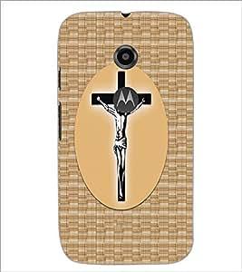 Printdhaba Cross D-6068 Back Case Cover For Motorola Moto E2