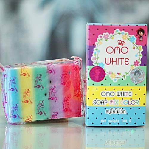 2-pcx-omo-white-plus-soap-mix-color-100g-5-colored-pomegranate-soap-formula-one-lump-skin-hyperpigme