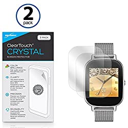 ASUS ZenWatch 2 (45mm) Screen Protector, BoxWave [ClearTouch Crystal (2-Pack)] HD Film Skin - Shields From Scratches for ASUS ZenWatch 2 (45mm)