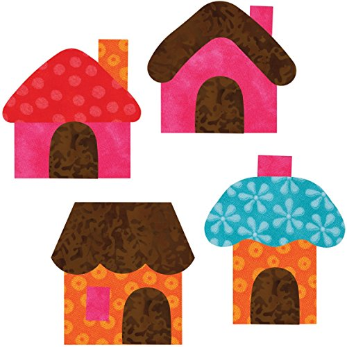 Go! This & That Fabric Cutting Dies-Go! Small Houses By Reiko Kato front-356178