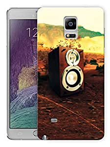 """Humor Gang Speakers And Music Is My Life Printed Designer Mobile Back Cover For """"Samsing Galaxy Note 4"""" (3D, Matte, Premium Quality Snap On Case)"""