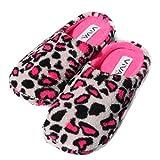 VIVA Hausschuhe Hüttenschuhe Pantoffeln Puschen warm Damen Leopardmuster