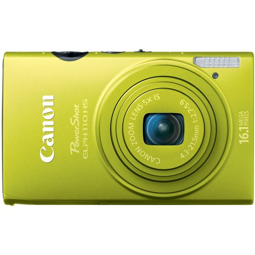 Canon PowerShot ELPH 110 HS 16.1 MP CMOS Digital Camera with 5x Optical Image Stabilized Zoom 24mm Wide-Angle Lens and 1080p Full HD Video Recording (Green) (OLD MODEL) (Canon Powershot 110 Hs compare prices)