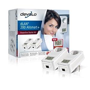 Devolo dLAN 200 AVsmart+ Starter Kit (Netzwerk aus der Steckdose) weiß