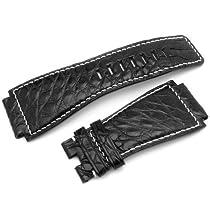 Bell&Ross BR01 Type Genuine Louisiana Alligator Head 24mm Black Strap