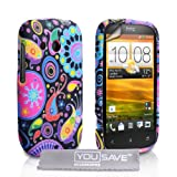 HTC Desire C Case Silicone Jellyfish Cover With Screen Protector & Clothby Yousave Accessories