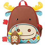 Skip Hop Zoo Backpack and Plush Set, Moose