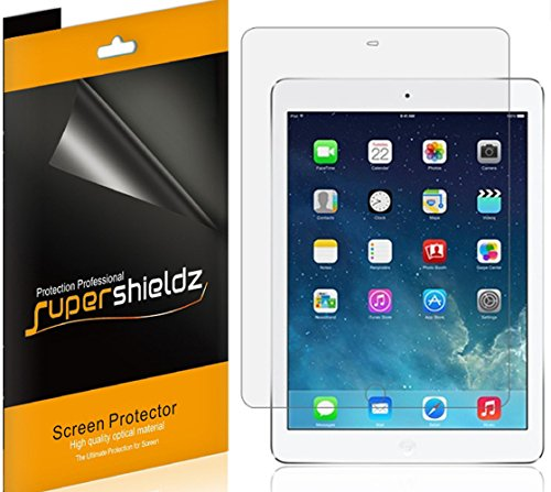 [4-Pack] SUPERSHIELDZ- Anti-Glare & Anti-Fingerprint (Matte) Screen Protector For Apple iPad Air 2 / iPad Air + Lifetime Replacements Warranty- Retail Packaging
