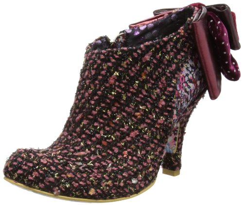 Irregular Choice Womens Baby Beauty Pink/Black/Knit Boots 3975-1 6.5 UK, 40 EU