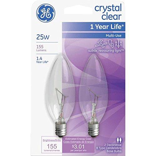 Ge Decorative Blunt Tip Light Bulb 25 W 155 Lumens