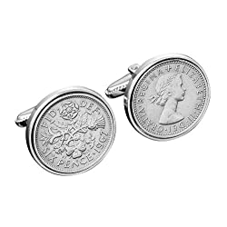 1964 English Sixpence Cufflinks